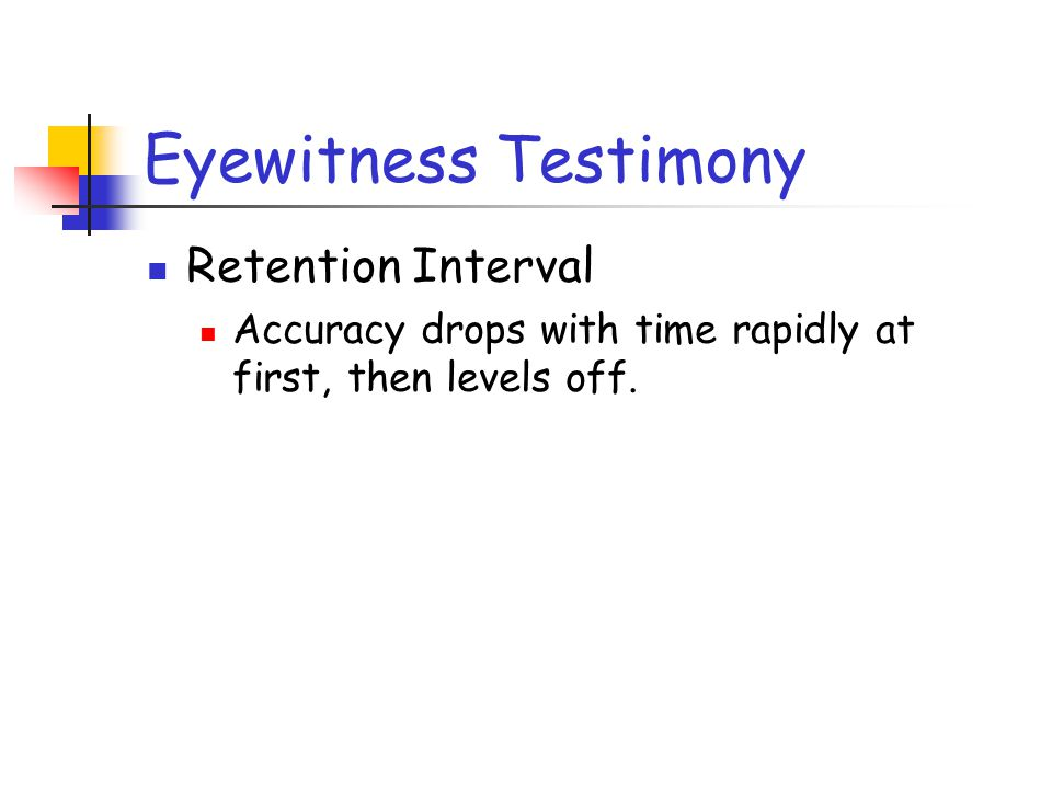 Eyewitness Testimony Retention Interval