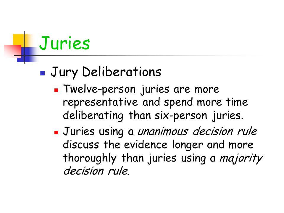 Juries Jury Deliberations