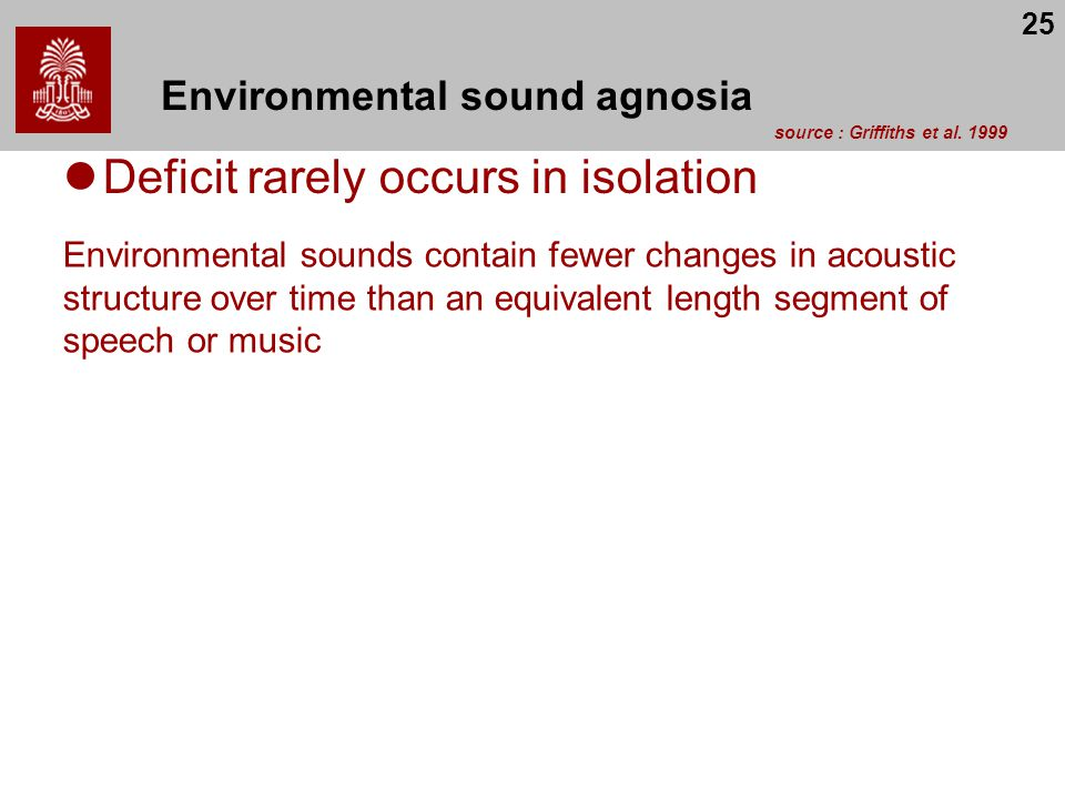 Environmental sound agnosia