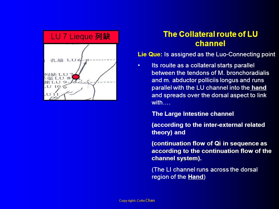The Collateral route of LU channel
