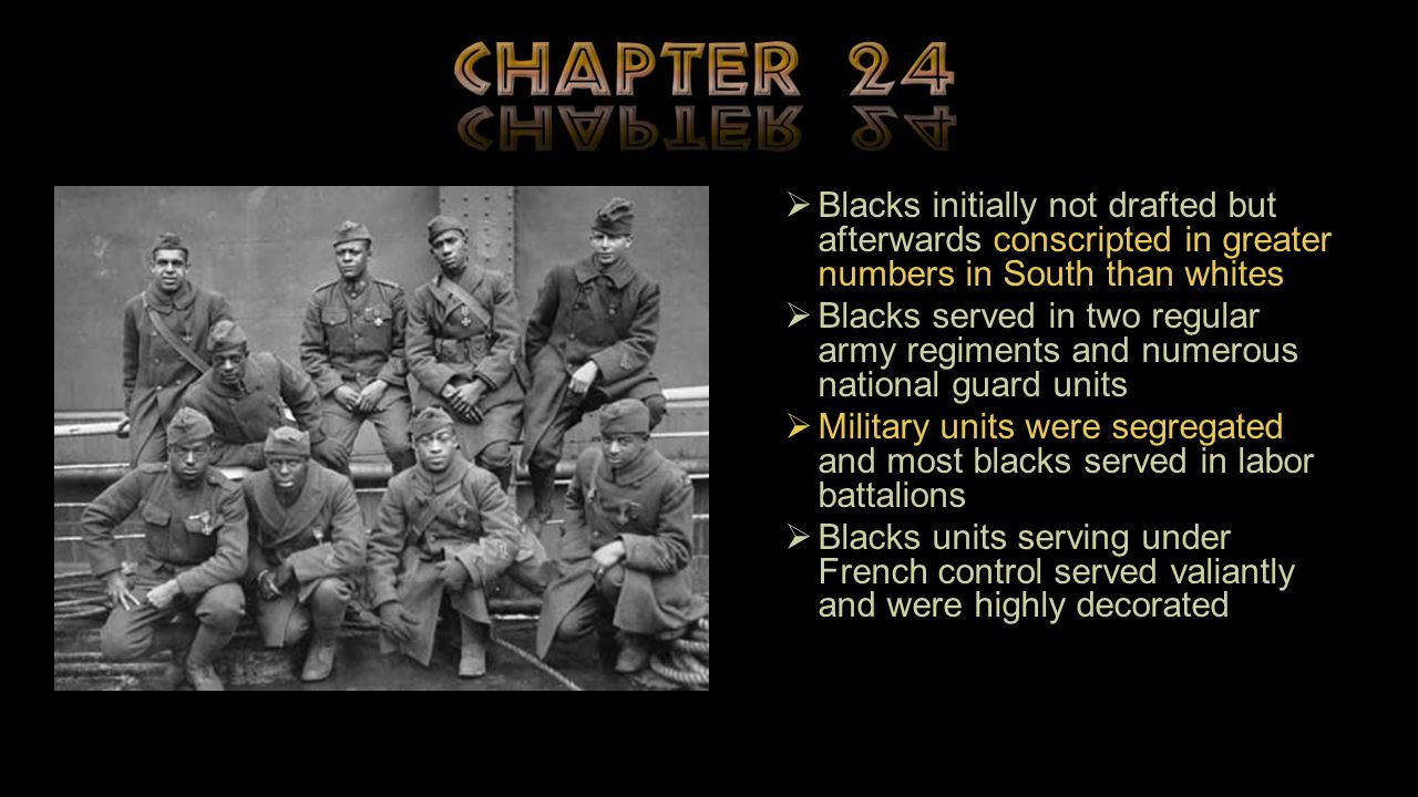Blacks initially not drafted but afterwards conscripted in greater numbers in South than whites