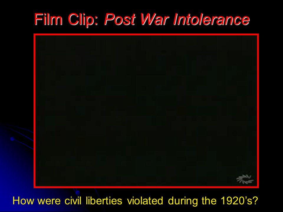 Film Clip: Post War Intolerance