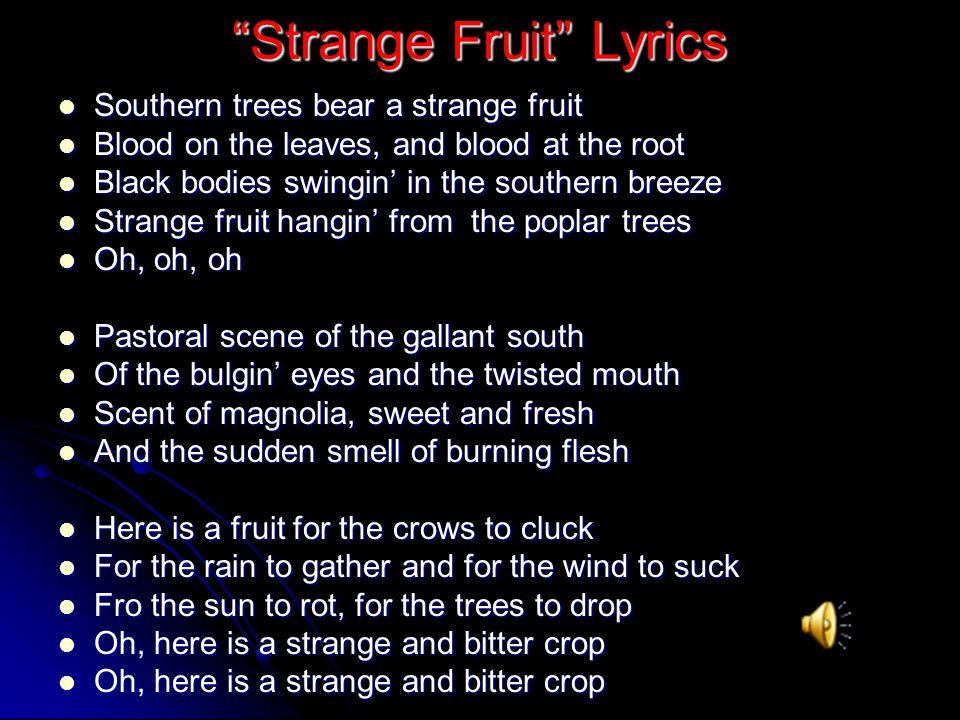 Strange Fruit Lyrics