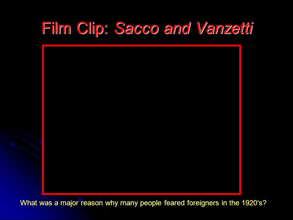 Film Clip: Sacco and Vanzetti