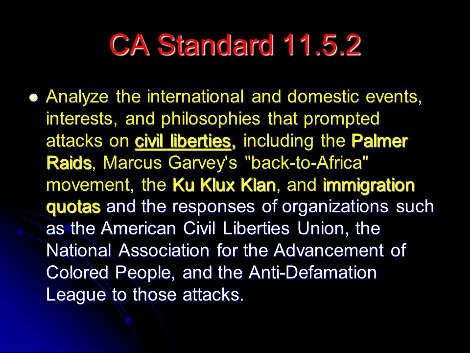 CA Standard 11.5.2
