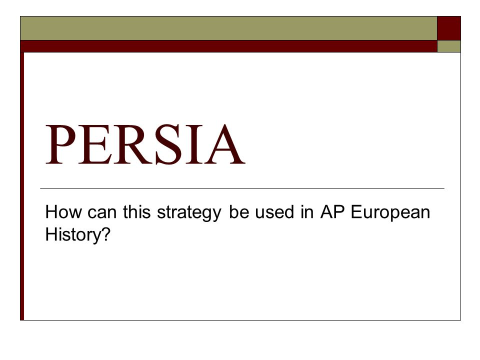 How can this strategy be used in AP European History