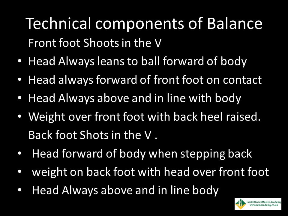 Technical components of Balance
