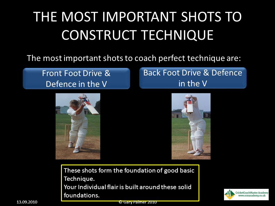 THE MOST IMPORTANT SHOTS TO CONSTRUCT TECHNIQUE