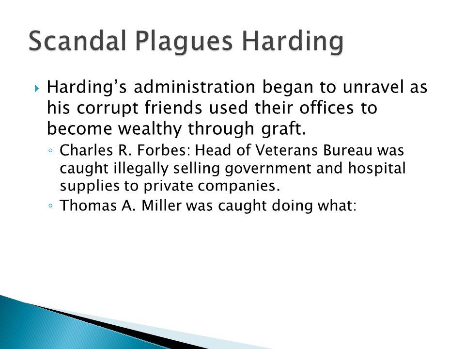 Scandal Plagues Harding