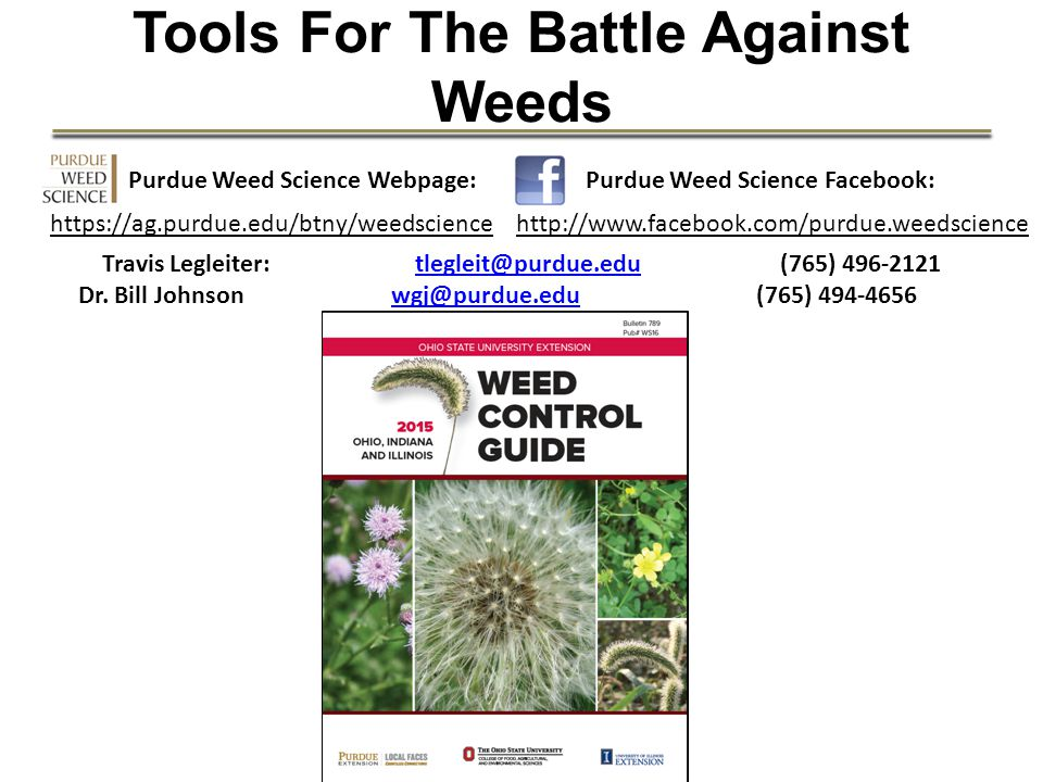 Tools For The Battle Against Weeds