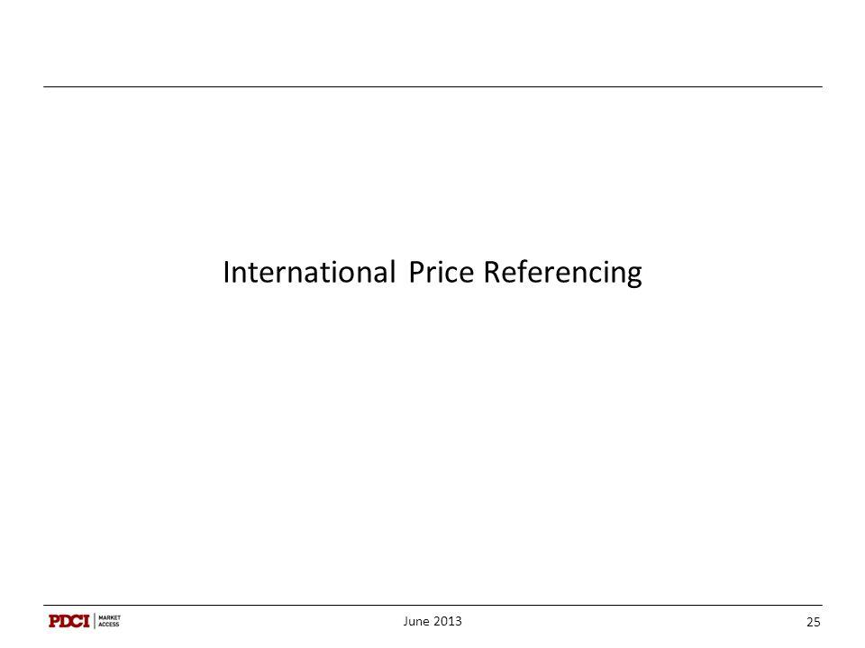 International Price Referencing