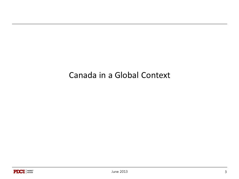 Canada in a Global Context