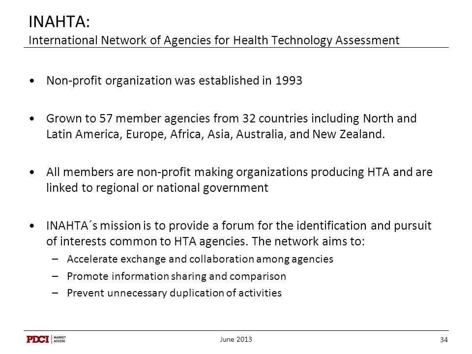 INAHTA: International Network of Agencies for Health Technology Assessment
