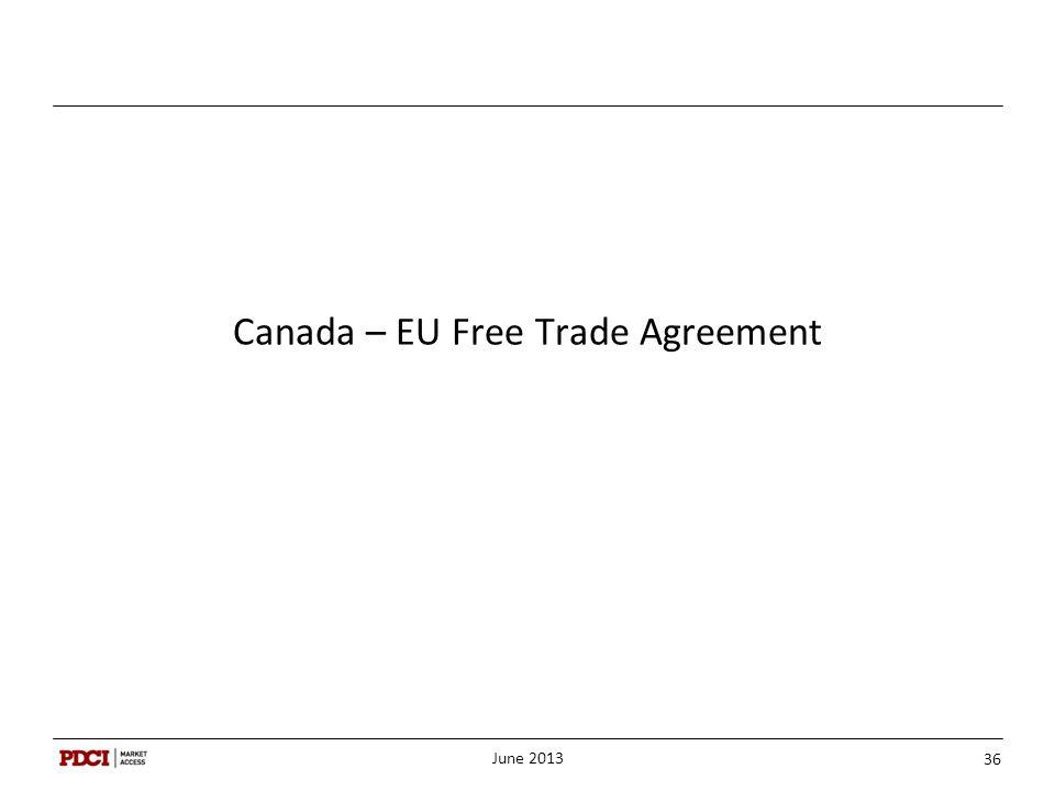 Canada – EU Free Trade Agreement