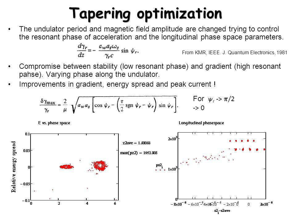 Tapering optimization