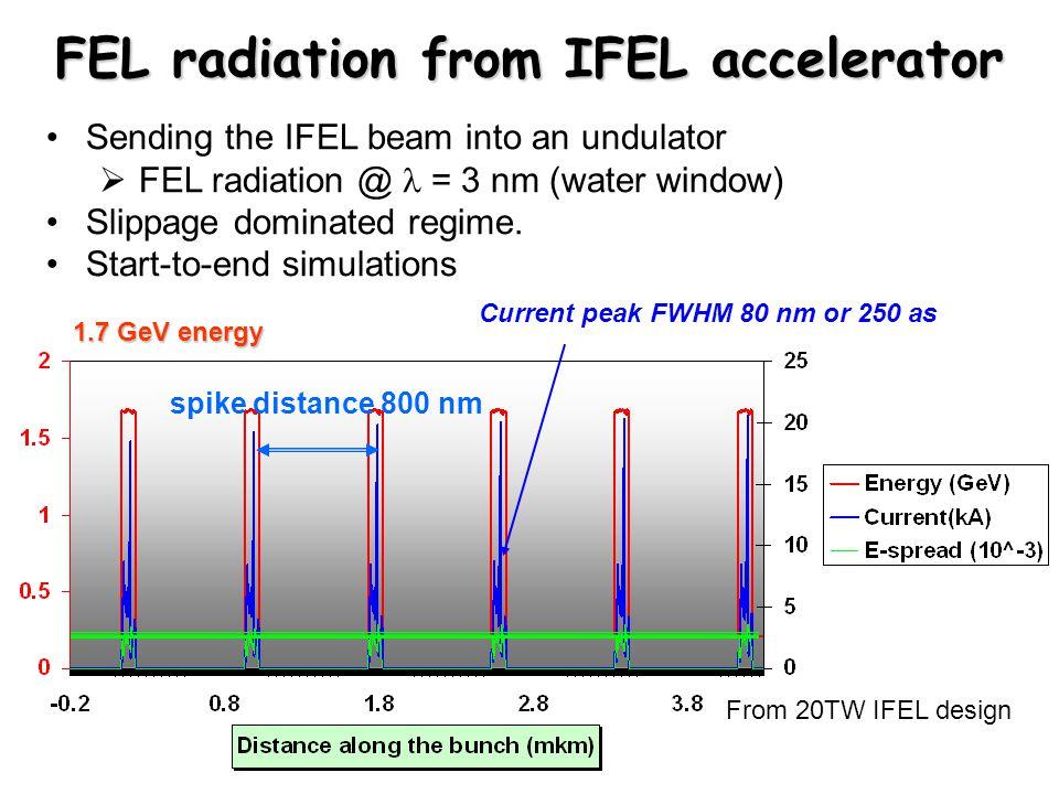 FEL radiation from IFEL accelerator