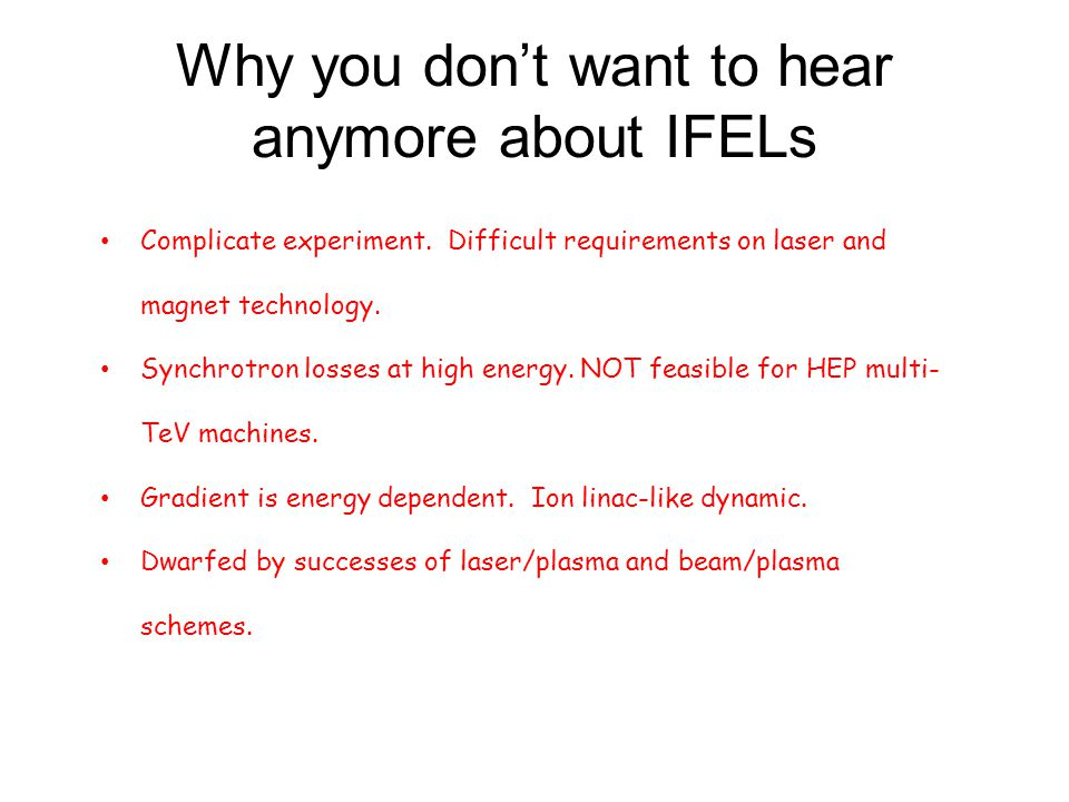 Why you don't want to hear anymore about IFELs
