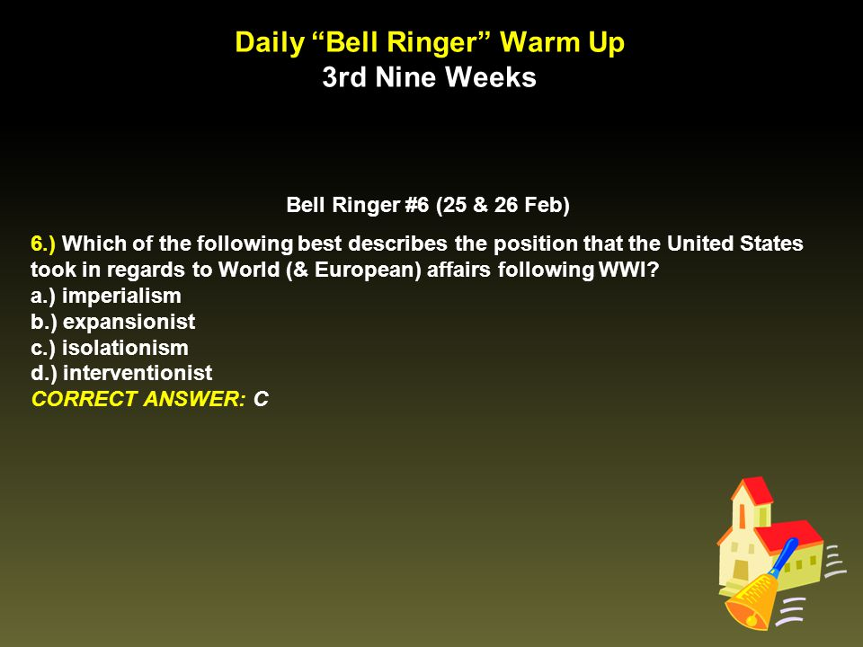 Daily Bell Ringer Warm Up