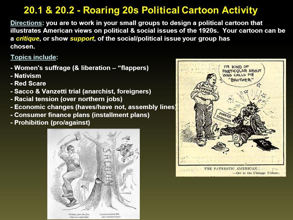 20.1 & 20.2 - Roaring 20s Political Cartoon Activity