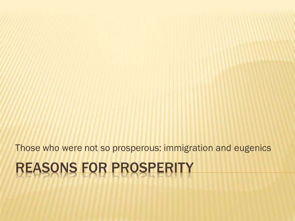 Reasons for Prosperity