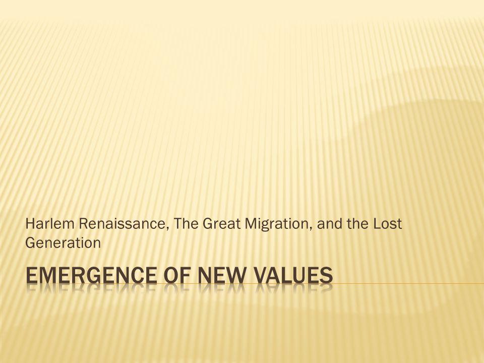 Emergence of New values