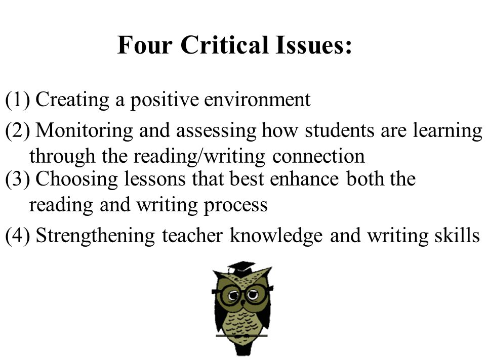 Four Critical Issues: (1) Creating a positive environment
