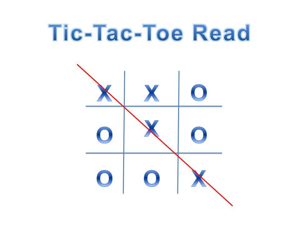 Tic-Tac-Toe Read X X O X O O O O X
