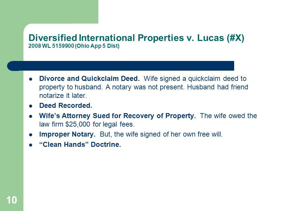 Diversified International Properties v