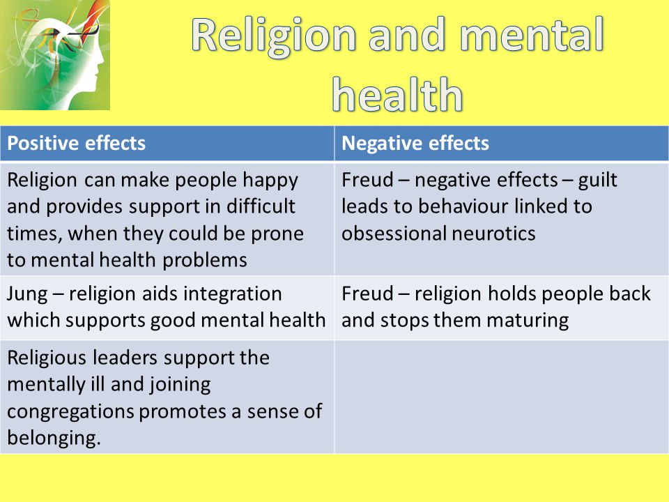 effects of religion on children positive Scientific studies that show a positive effect of religion on health positive therapeutic effects of intercessory prayer in a god punishes children for.