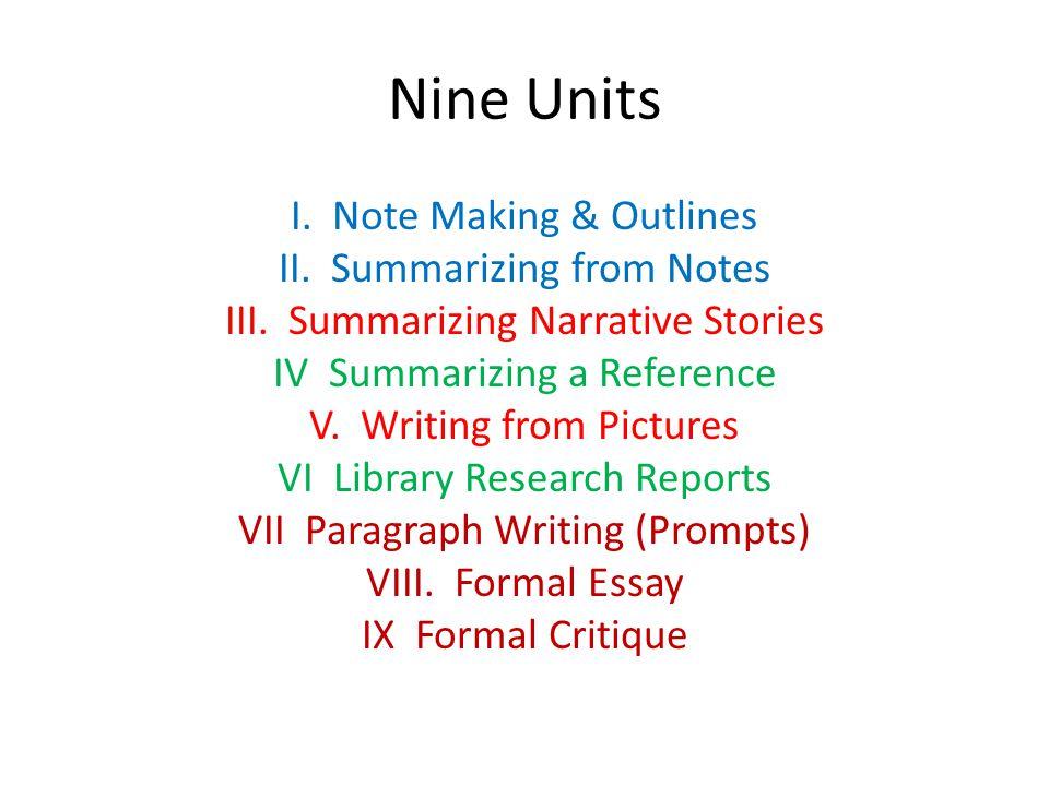 Nine Units