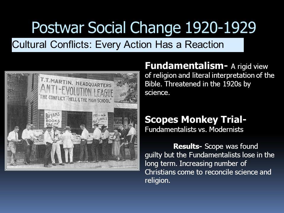 Postwar Social Change 1920-1929