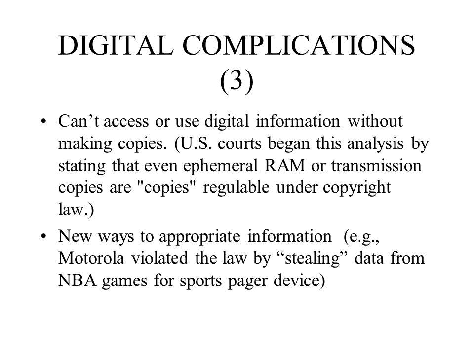 DIGITAL COMPLICATIONS (3)