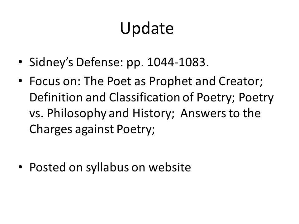Update Sidney's Defense: pp. 1044-1083.