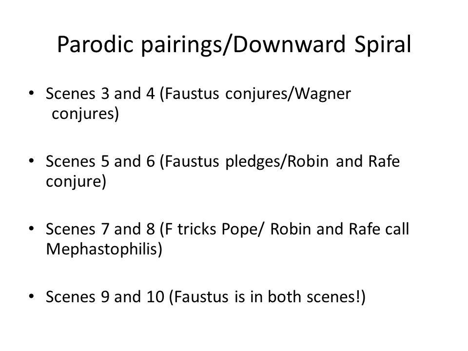 Parodic pairings/Downward Spiral
