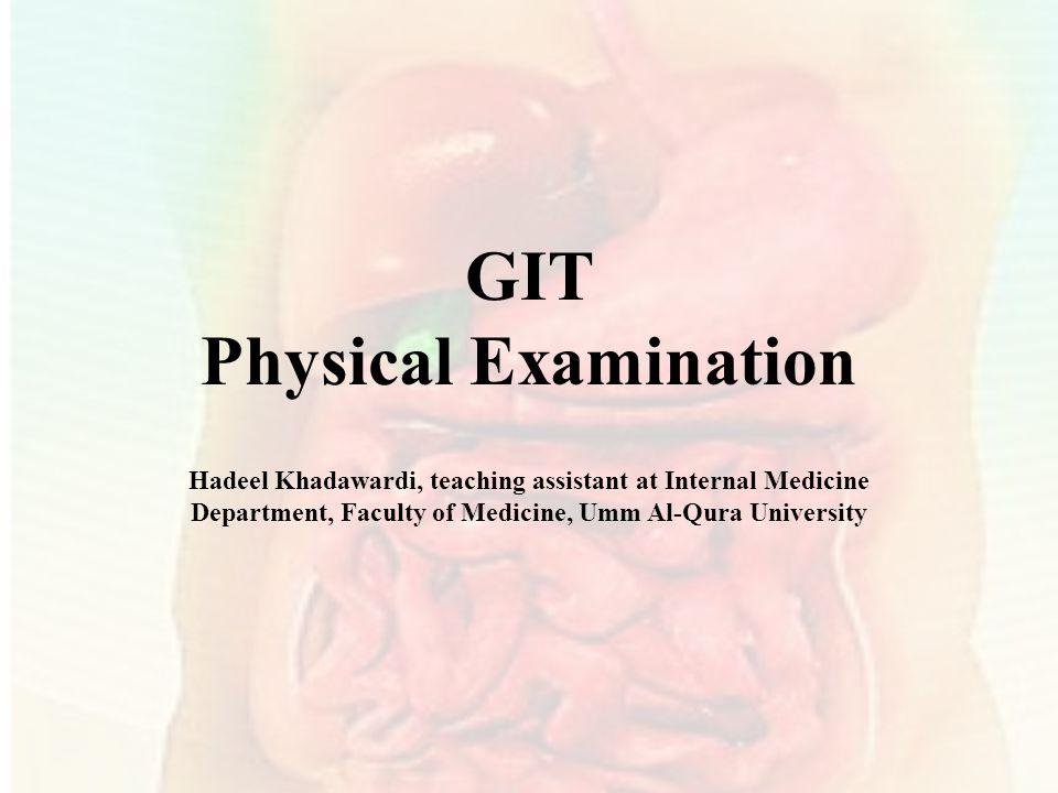 GIT Physical Examination