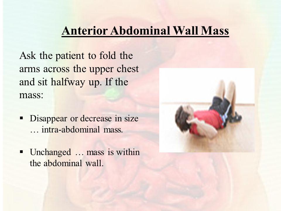 Anterior Abdominal Wall Mass