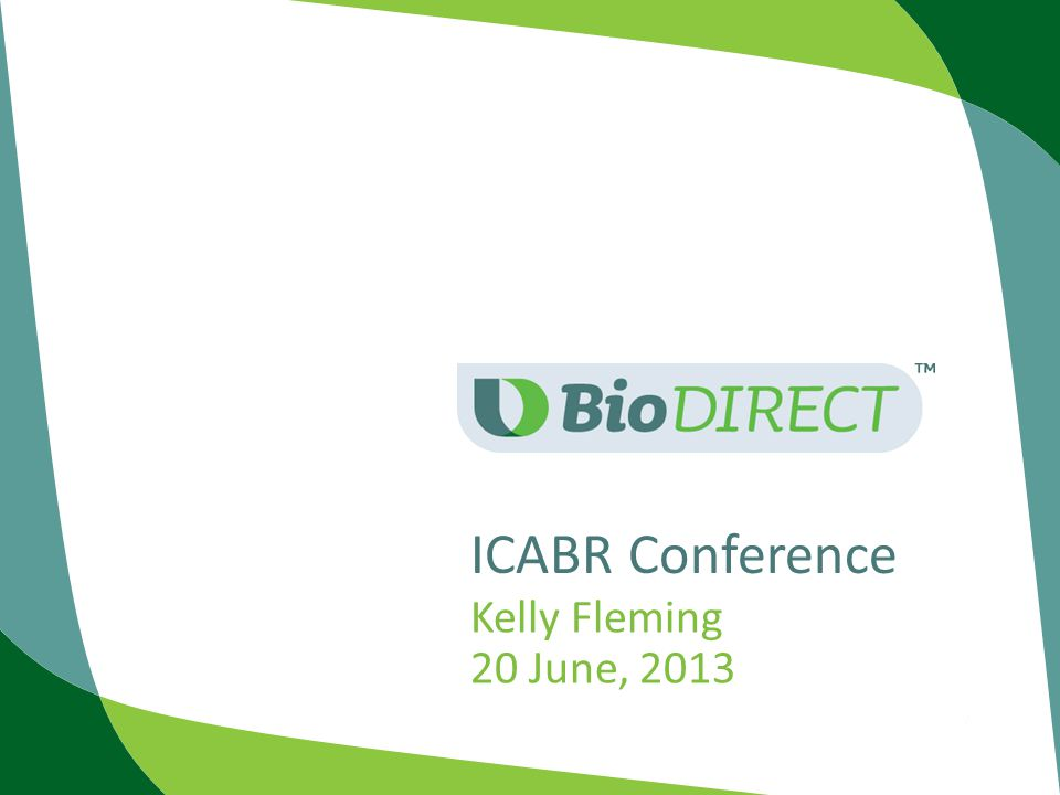 ICABR Conference Kelly Fleming 20 June, 2013