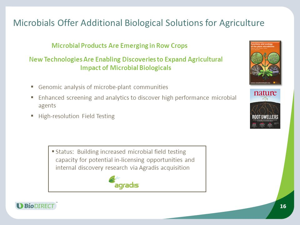 Microbials Offer Additional Biological Solutions for Agriculture
