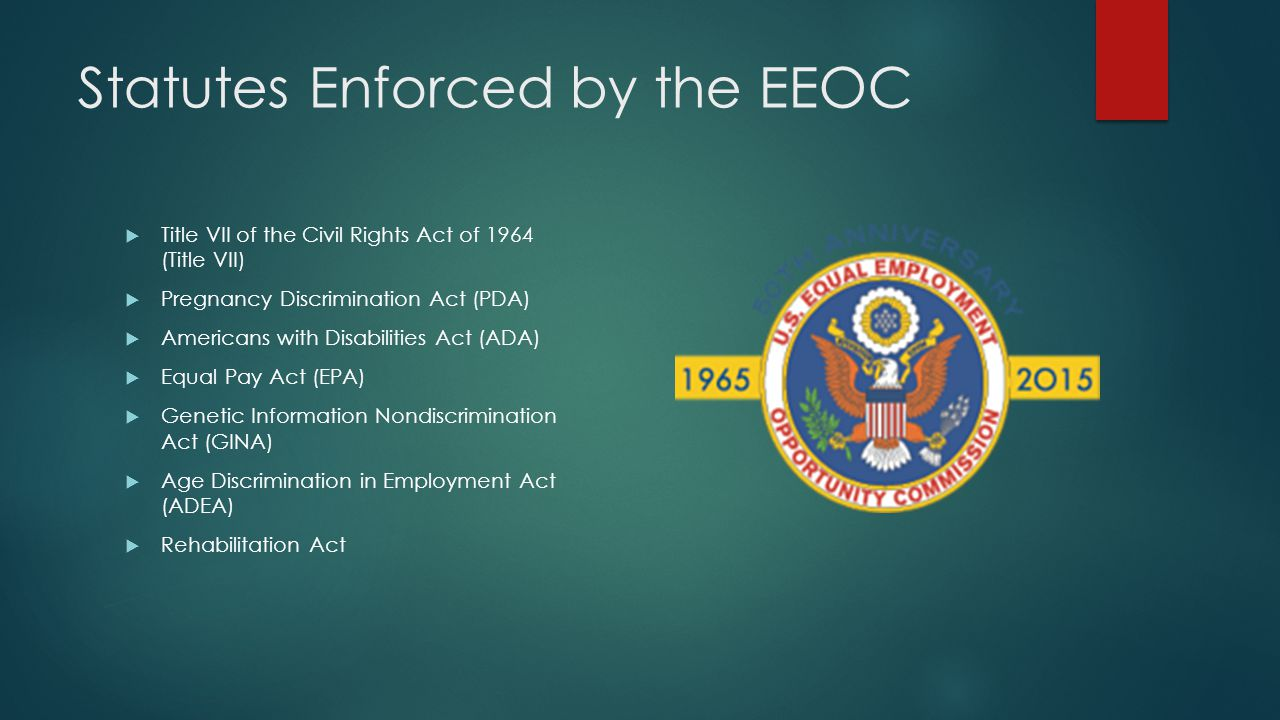 Statutes Enforced by the EEOC
