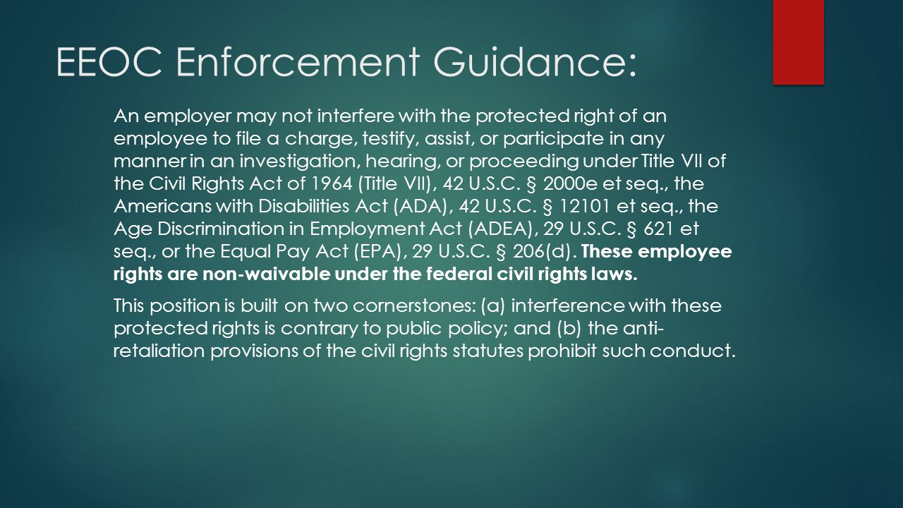 EEOC Enforcement Guidance: