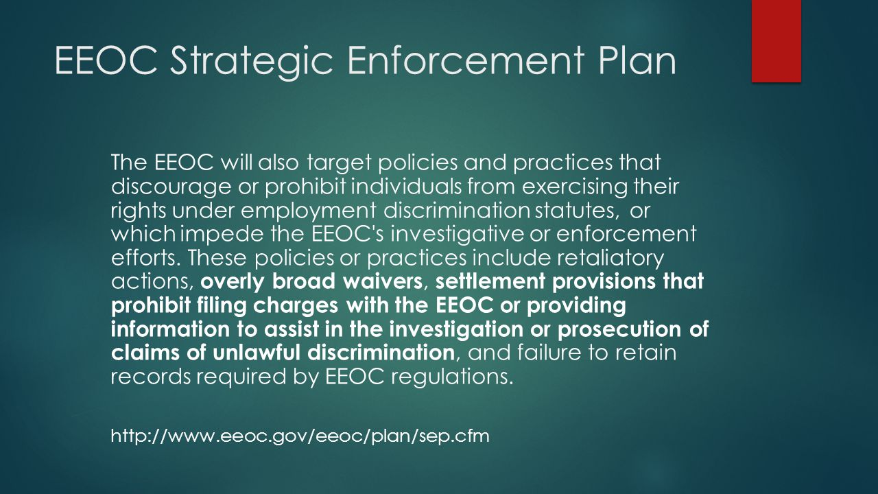 EEOC Strategic Enforcement Plan