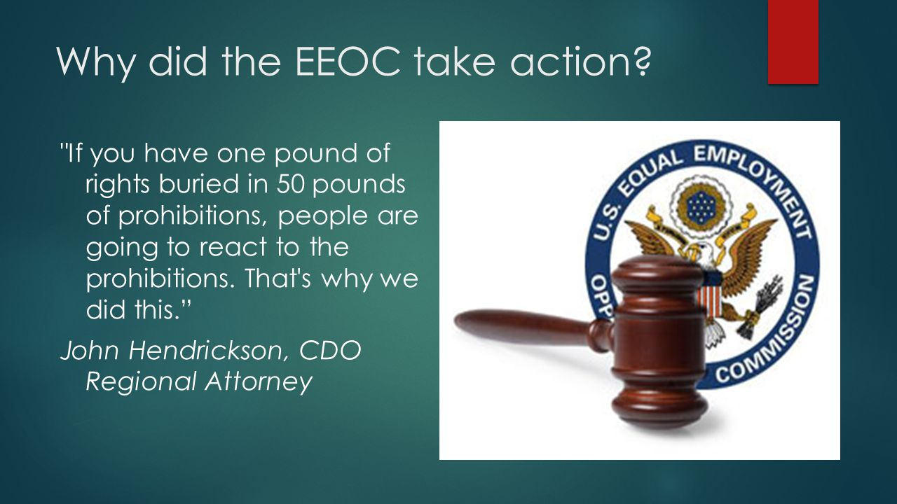 Why did the EEOC take action