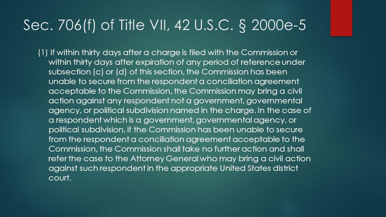 Sec. 706(f) of Title VII, 42 U.S.C. § 2000e-5