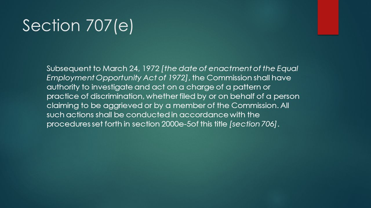 Section 707(e)