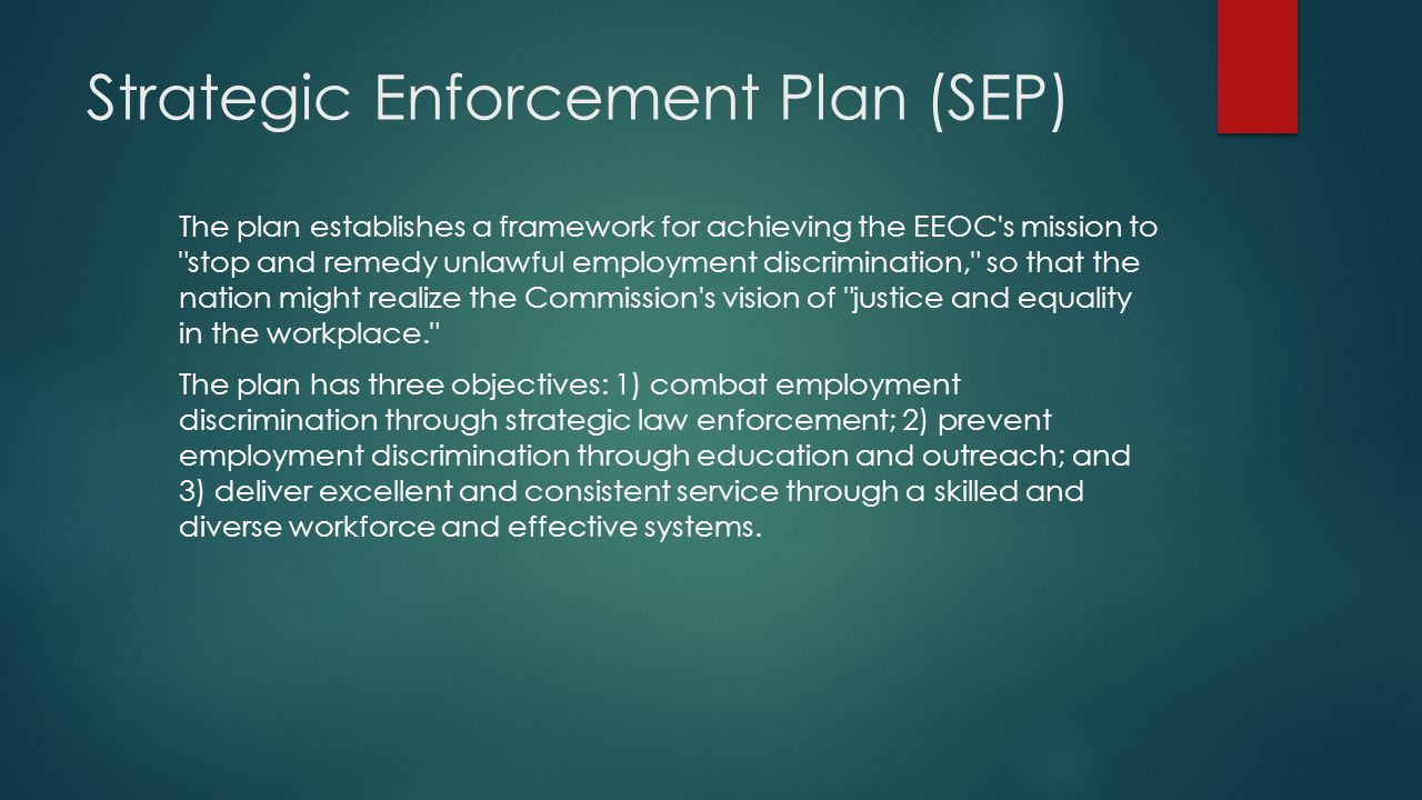 Strategic Enforcement Plan (SEP)