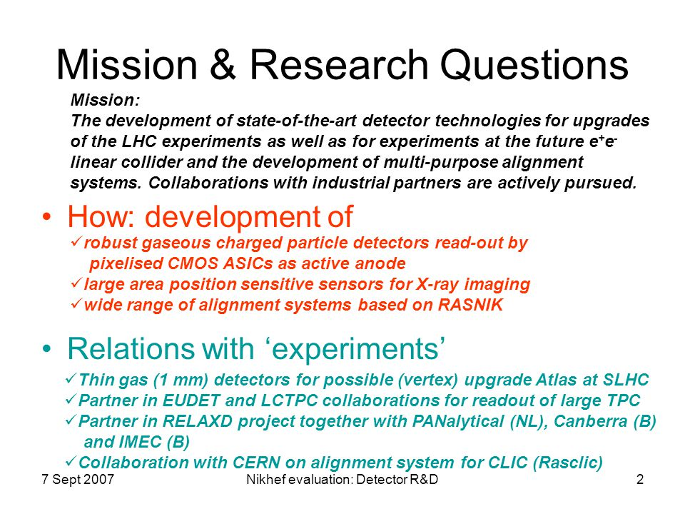 Mission & Research Questions