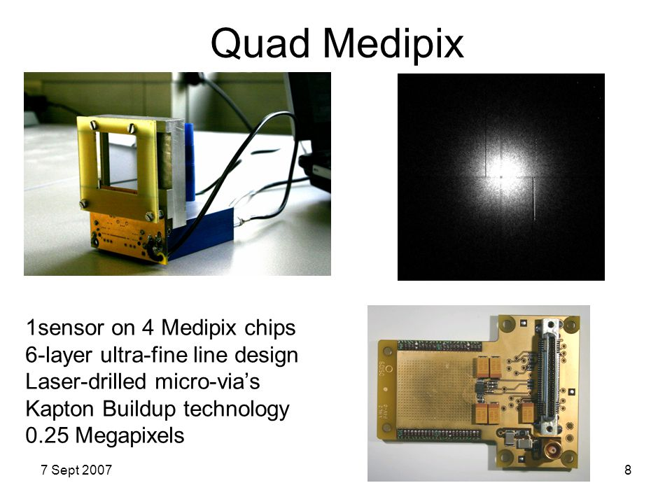 Quad Medipix 1sensor on 4 Medipix chips 6-layer ultra-fine line design