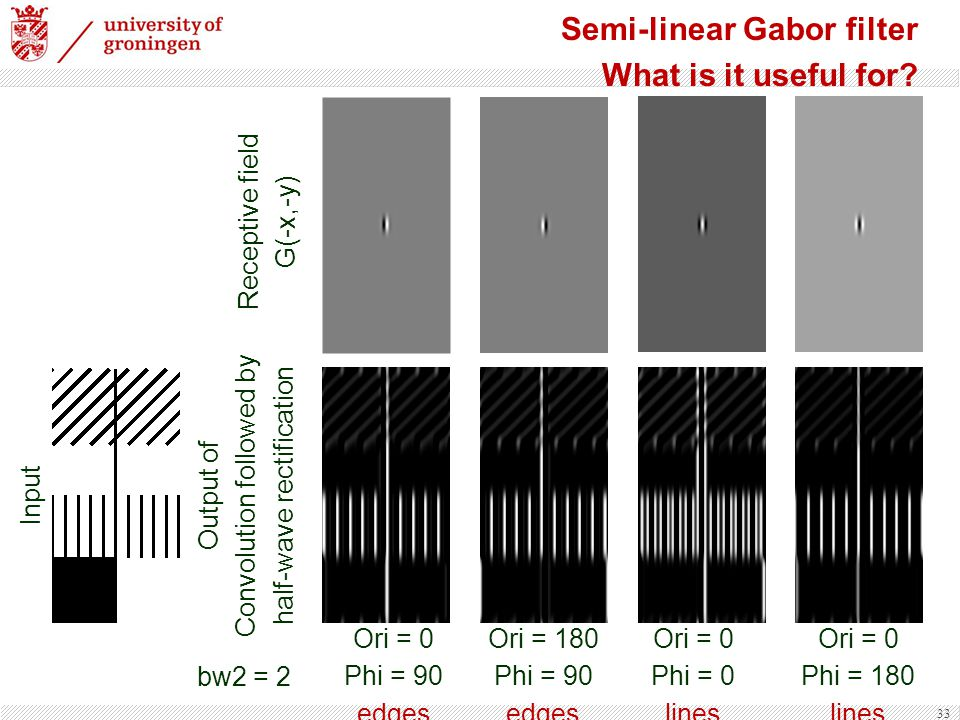 Semi-linear Gabor filter What is it useful for