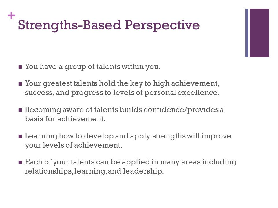 Strengths-Based Perspective
