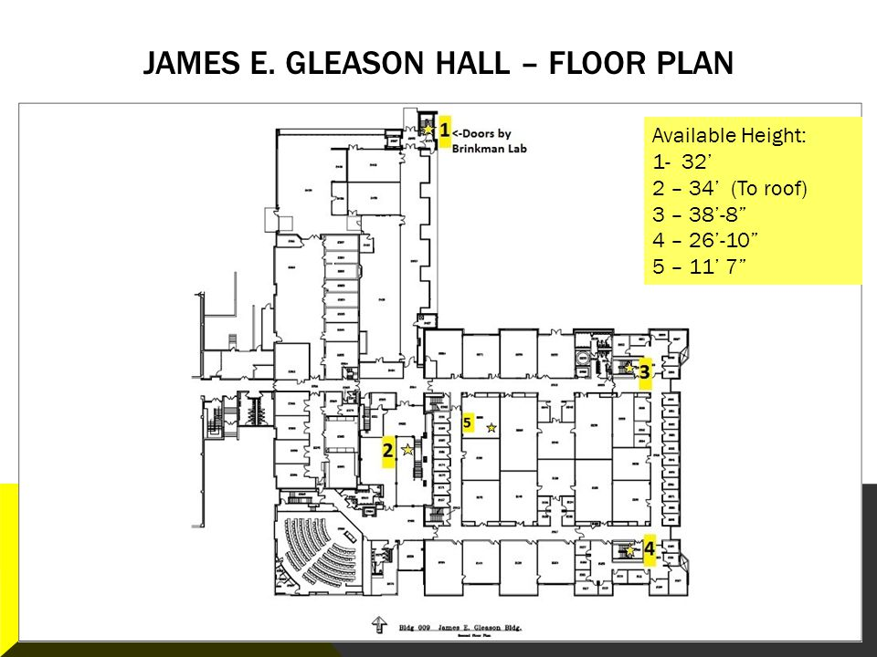 James E. Gleason Hall – Floor plan